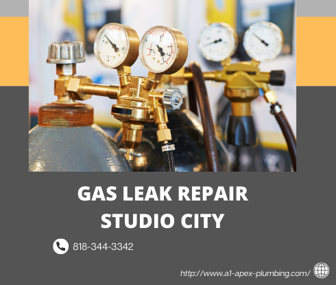 Gas leak repair cost in Studio City