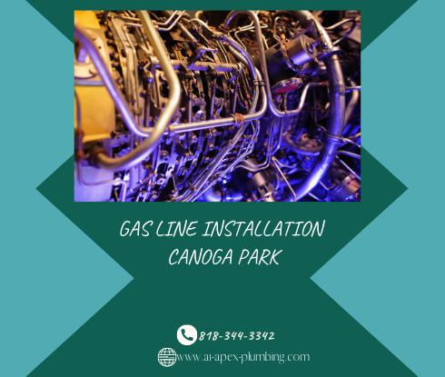 Flexible gas line installation in Canoga Park