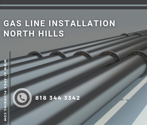 Natural gas line installation cost in North Hills