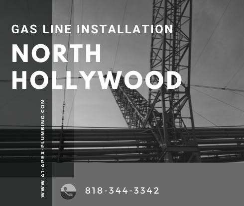 Propane gas line installation in North Hollywood