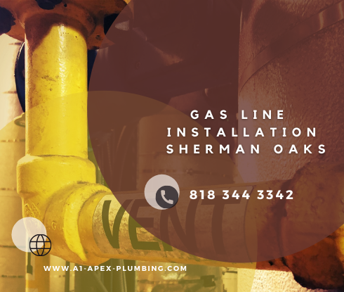 Gas line installation for fireplace in Sherman Oaks