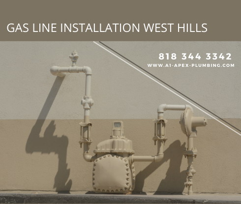 Gas pipe installation in house in West Hills