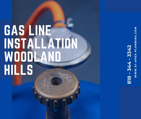 Propane gas line installation in Woodland Hills