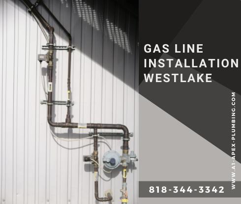 Gas pipe installation in house in Westlake Village
