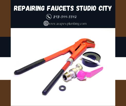 Compression faucet repair in Studio City