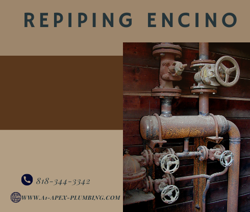 Repiping water lines in Encino