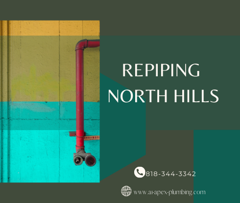 Repiping house with crawl space in North Hills
